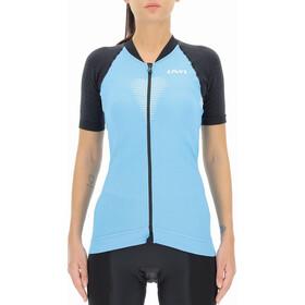 UYN Granfondo Kurzarm Biking Shirt Damen blau/schwarz